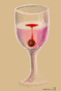 Kielich z winem